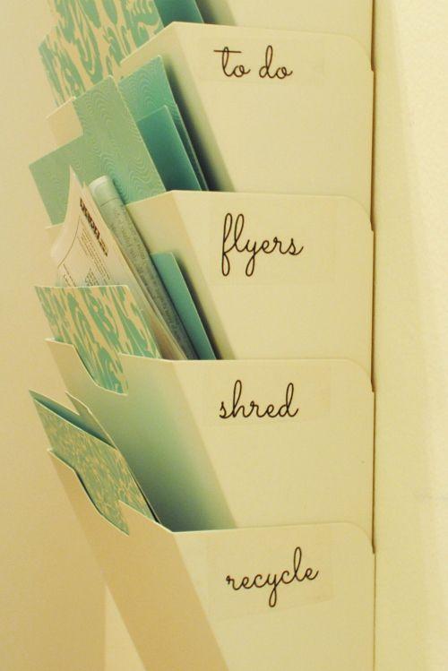 pretty organized Mail Sorter with Lables. AMAZEBALLS