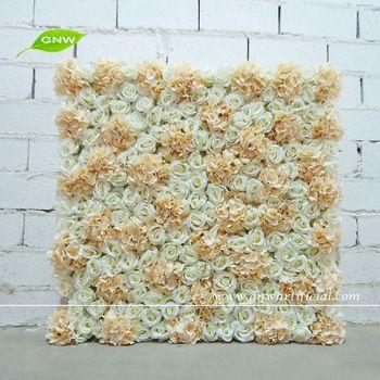 GNW FLW1508006 Decoration wedding backdrop silk rose hydrangea flower Wholesale