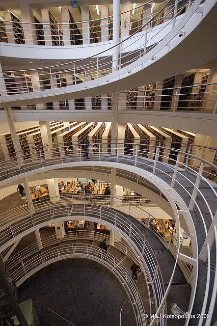 Lionel Robbins Library, London School of Economics—London, England - Spiral staircase by John & Mel Kots, via Flickr
