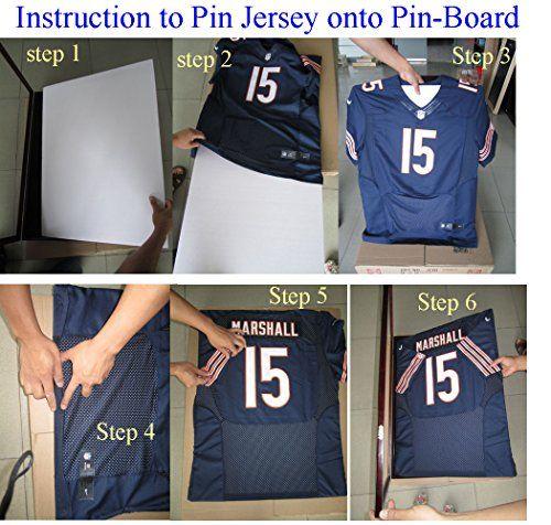 ULTRA CLEAR UV Protection Baseball / Football Jersey Frame Display Case Shadow Box, BLACK (JC04-BL)