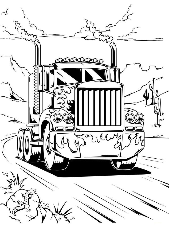 Optimus Prime Truck Transformers Coloring Pages Transformers