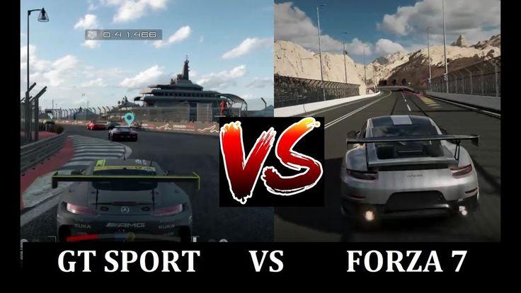 GT SPORT vs FORZA 7 Gameplay Comparison - PS4 vs Xbox One
