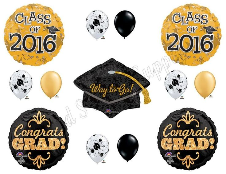 Details about CLASS OF 2019 Gold Black ORBZ Graduation Party Balloons Decoration Supplies
