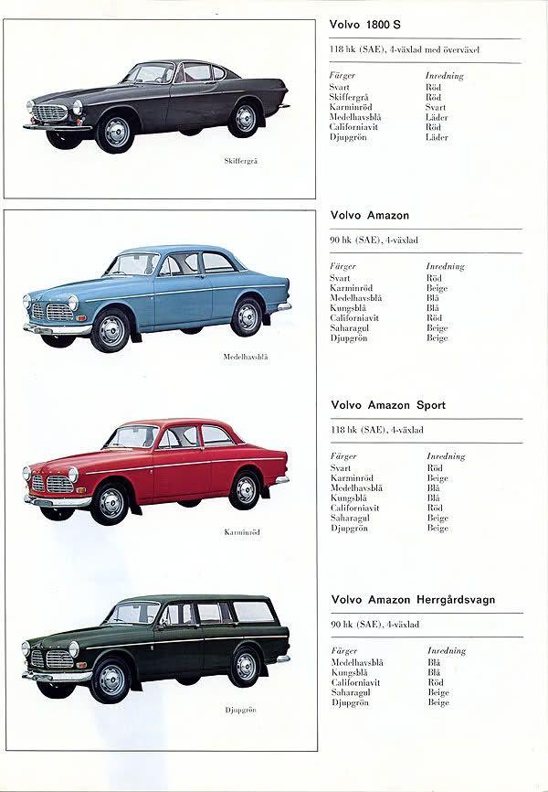Volvo Amazon models 1969 - Volvo Amazon (1956–1970)