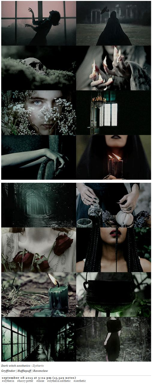 pvffskein: dark witch aesthetics / Slytherin
