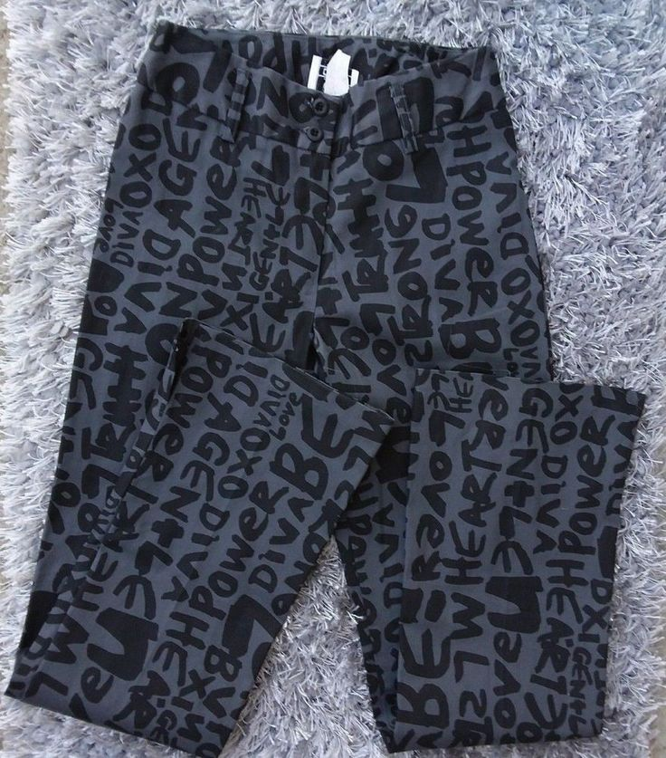 Star C.C.C. Juniors Jeans Size 3 Gray with Black Letters Written New With Tags #StarCCC #CasualPants #Clubwear
