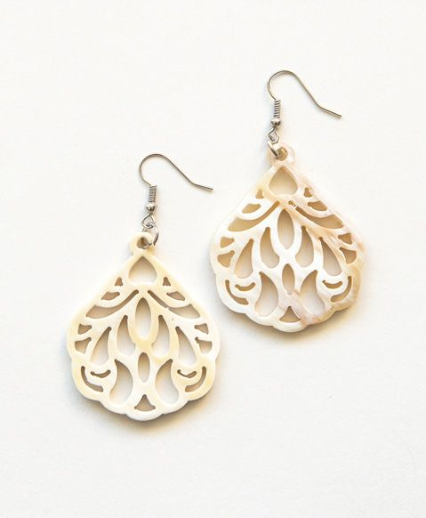 Intricately carved horn swings daintily for an accessory that is both natural and refined - See more at: http://www.noondaycollection.com/earrings/calypso-earrings#sthash.vXuVXhJk.dpuf