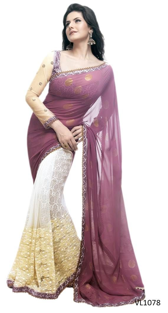 #Sarees Handpicked sarees to suit every style. Find exciting range of fresh designs on Ethnic Station. Shop now @ http://www.ethnicstation.com/women/sarees/beige-lace-work-saree-VL1078