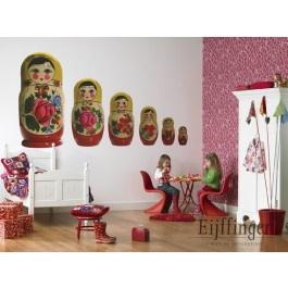 Voor de echte meidenkamer, dit hippe Babushka behang. Deze 6 Babushka ...