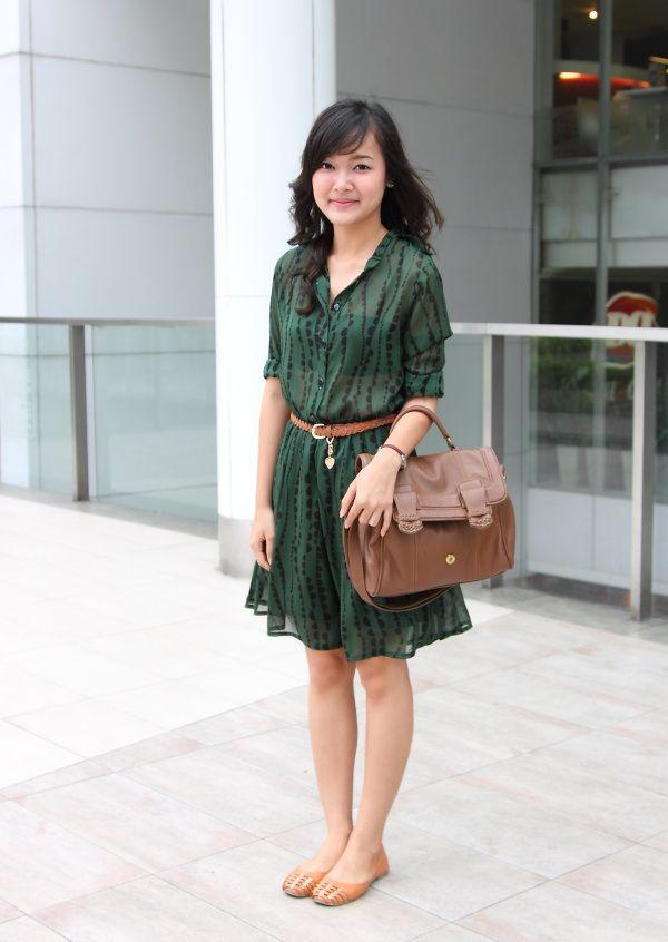style green dress flats