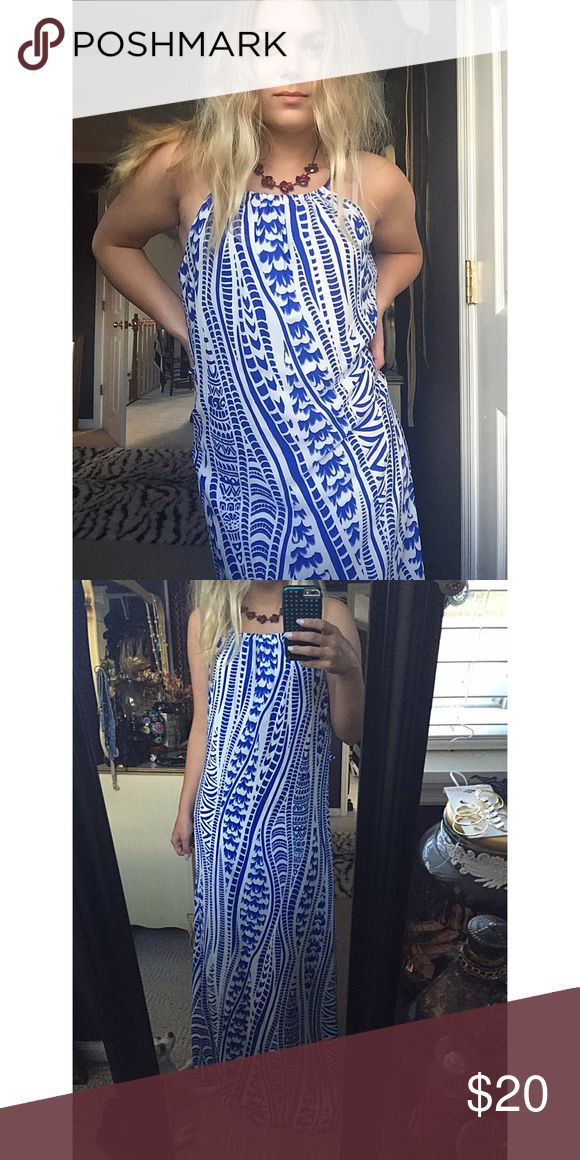 Boutique Boho Dress • dress was bought from a local boutique                        • blue & white design                                                     • Perfect comfy dress for warm summer days Dresses