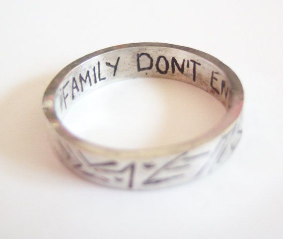Family Don't End With Blood ~ Supernatural Ring ~ etched by ArdentArgent