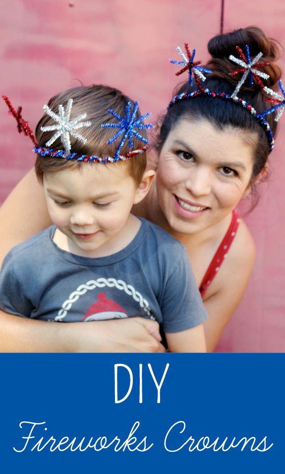 Look festive this 4th of July with these DIY firework crowns