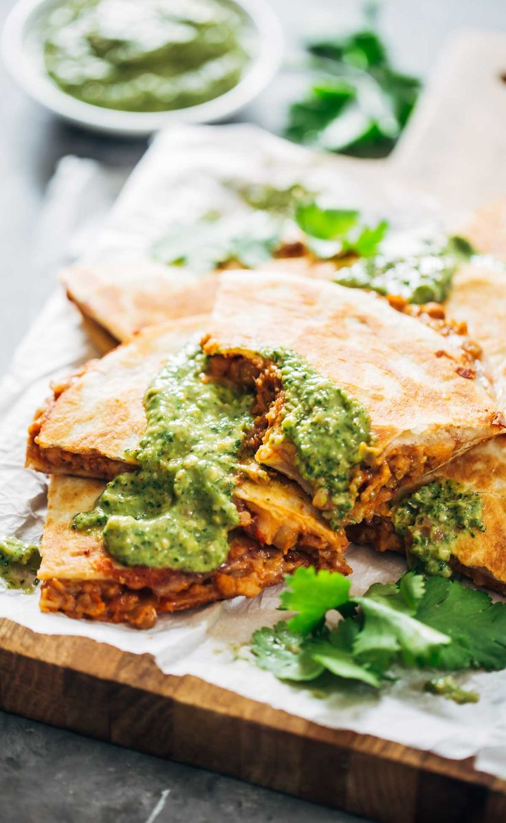 Quick & Easy Lentil Quesadillas Recipe - easy, crockpot friendly, vegetarian comfort food! | pinchofyum.com
