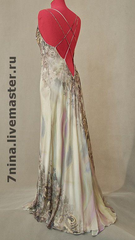 Купить Платье из шелковой вуали для вечера Пепел розы - вечернее платье, вечерний наряд