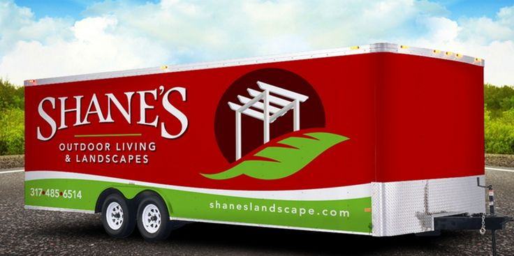 truck wrap design for landscape company in indiana