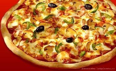 Пицца с грибами с шампиньонами
