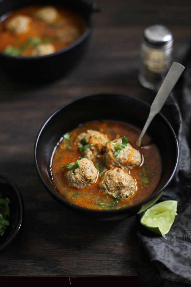 Indian Mutton Meatball Soup, Sinfully Spicy