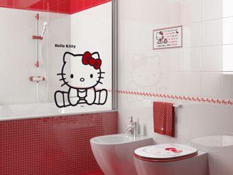 Simple Hello Kitty Tile Appliques Bathroom