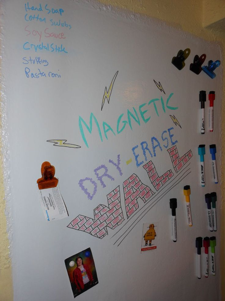 Magnetic -Dry Erase Wall- or Door!  Did you know that Rust-Oleum makes both Magnetic Primer, and Dry Erase Paint!