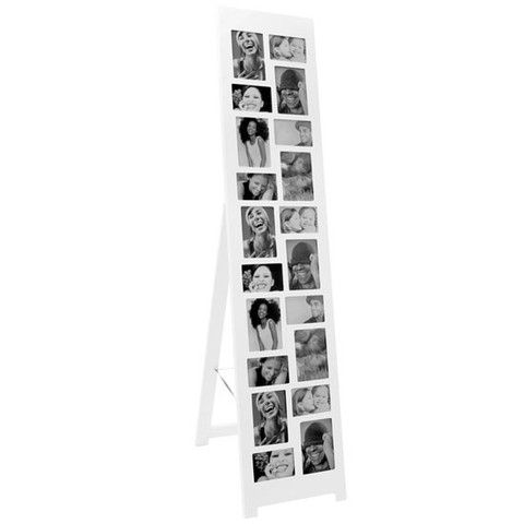 Floor Standing Photo Frame White Freestanding Frame