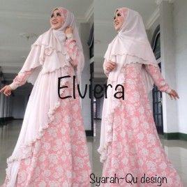 Baju Gamis Terbaru Elegant Elviera Coksal #bajugamis