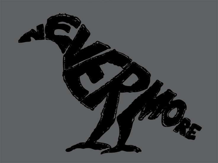 Edgar Allen Poe- The Raven   This is really clever.