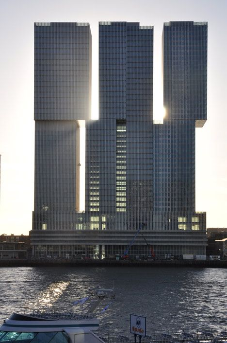 """OMA's colossal """"vertical city"""" in Rotterdam, the Netherlands"""