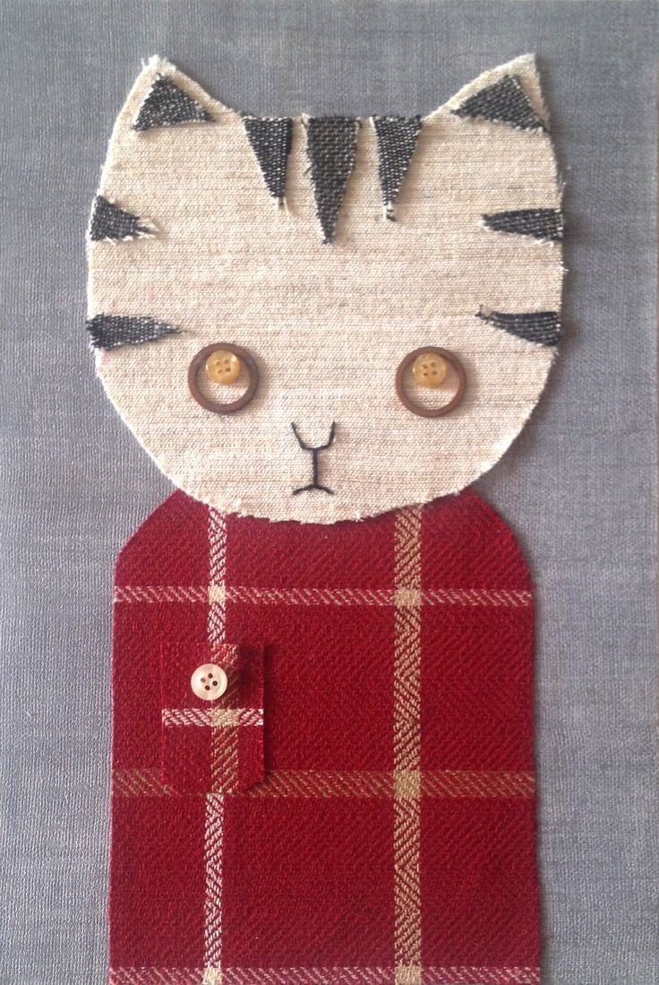 CUTE COLLAGE: RUDY THE CAT, CM 20X30 AVAILABLE!