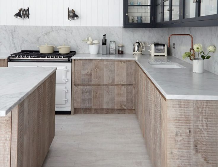 kitchen:Gas Range with Wall Mount Copper Faucet also Cylinder Vase, Stone Backsplash, Granite Countertops, Undermount Sink and Base Cabinet 20 Kitchen Cabinet Inspirations for a Contemporary, Classic Mien – Part 1