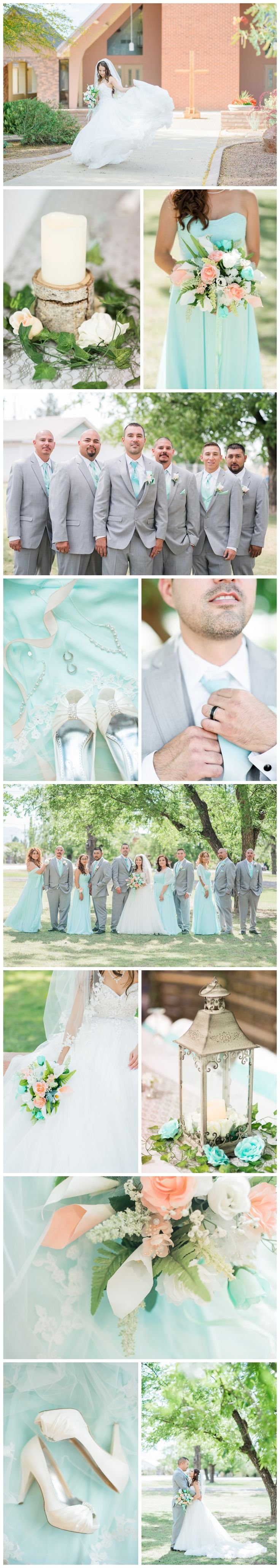 Mint and Blush Rustic Chic Wedding