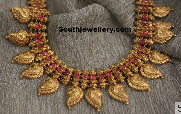 See woven rings titorial in wire wrapping section for this chain. Traditional Gold Necklace ~ Latest Jewellery Designs