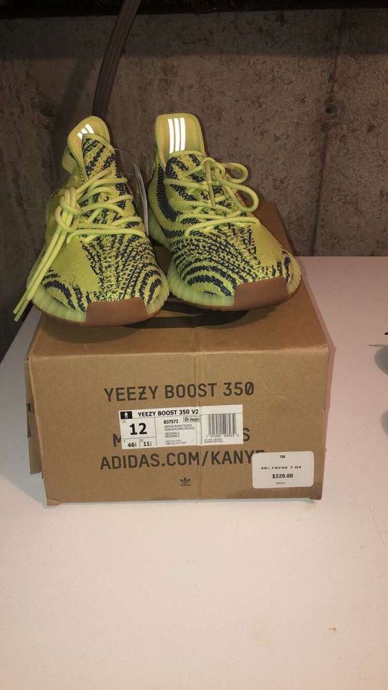 aaa037eef yeezy boost 350 v2 semi frozen yellow Size 12  fashion  clothing  shoes   accessories  mensshoes  athleticshoes (ebay link)