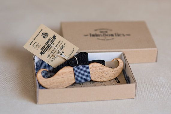 Wooden bow tie Mustache 3 . 100% handicraft by TwinsBowties