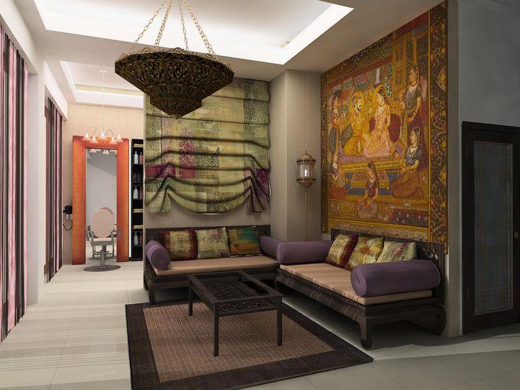 Proiect de design interior pentru salon de infrumusetare, amenajari interioare moderne, minimaliste combinate cu stilul oriental