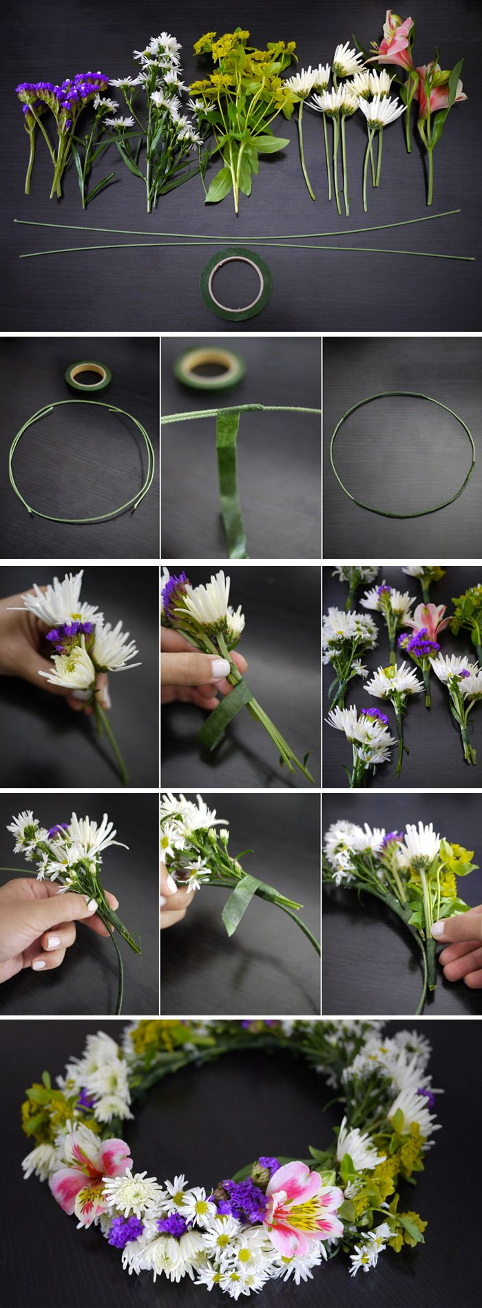 DIY: 7 guides that show you how you easily make your own beautiful midsummer garland with fresh flowers. But if it still seams too hard to do we have ready mades in our store, and they don´t need watering either #midsummer #garland