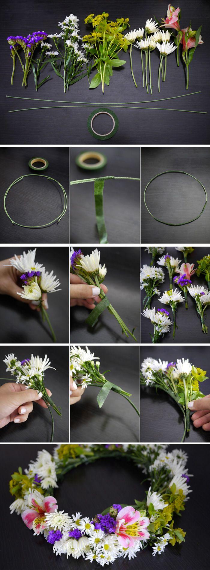 DIY Flower Wreath Step-by-Step Tutorial / Midsommarkrans steg för steg