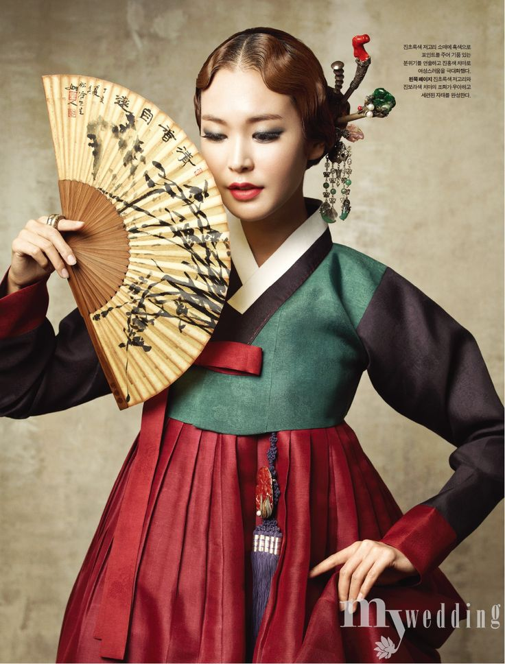 Beautiful 한복 Hanbok and accessories / Traditional Korean dress