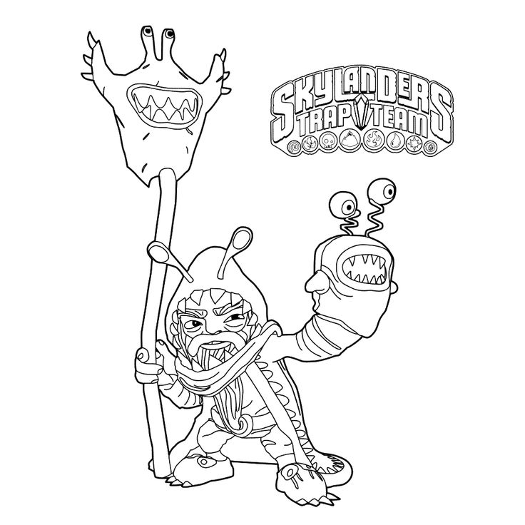 skylanders coloring pages terrafin restaurant - photo#16