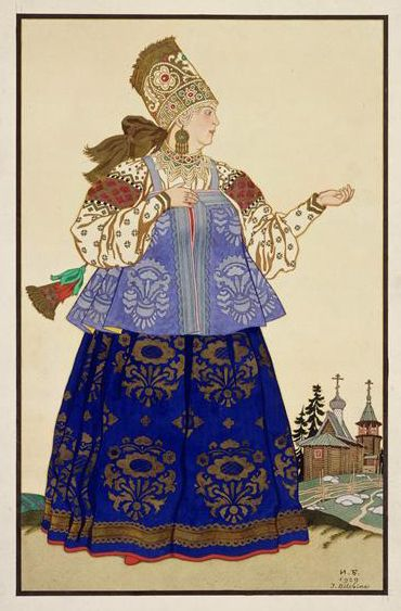 Russian folk costumes in the illustrations of Ivan Bilibin