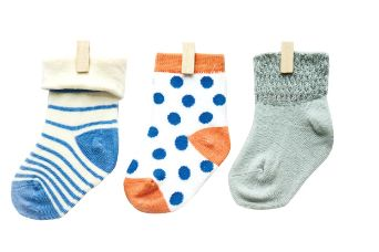 Petites Pattes - Faces Socks in Spots & Stripes