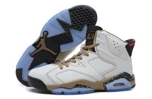 newest b87f8 df875 Nike Air Jordan Vi 6 Retro Mens Shoes New White Yellow Brown Hot Taiwan