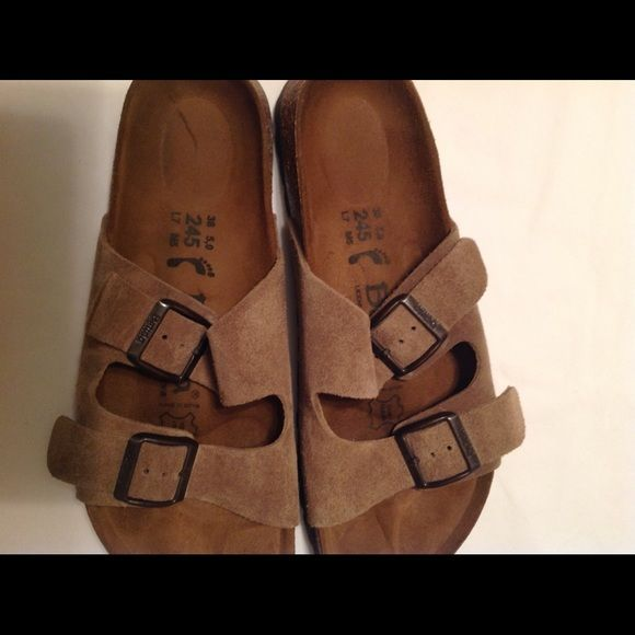 Birkenstock Betula Sandals Beige Size 7 Beautiful pair of Birenstck Betula's.  Sandals with two adjustable straps for a good fit.  In excellent condition. Birkenstock Shoes Sandals