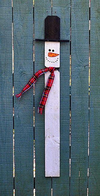 Fence post snowman