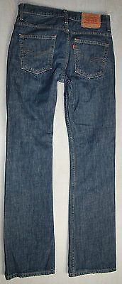 VINTAGE LEVIS 507 RED TAB BOOOT CUT BLUE FADED MID RISE W31 L34 MADE IN SPAIN