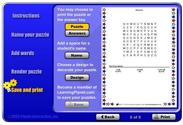 14 Places to Create Your Own Free Word Search Puzzles: Word Search Maker at Learning Planet