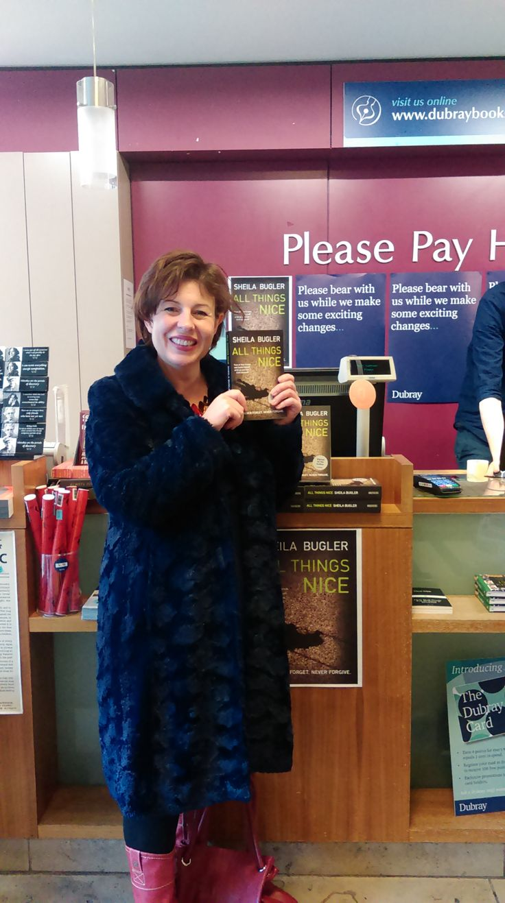 Crime fiction author Sheila Bugler in Dubray Bookshop