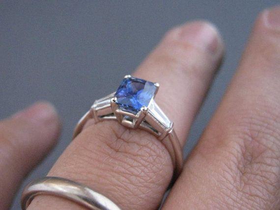 1.54ct Ceylon Sapphire and Diamond Ring  by juliecannonjewellery, $5495.00