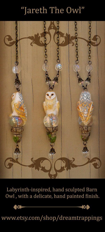 Jareth The Owl Necklace by natamon on DeviantArt