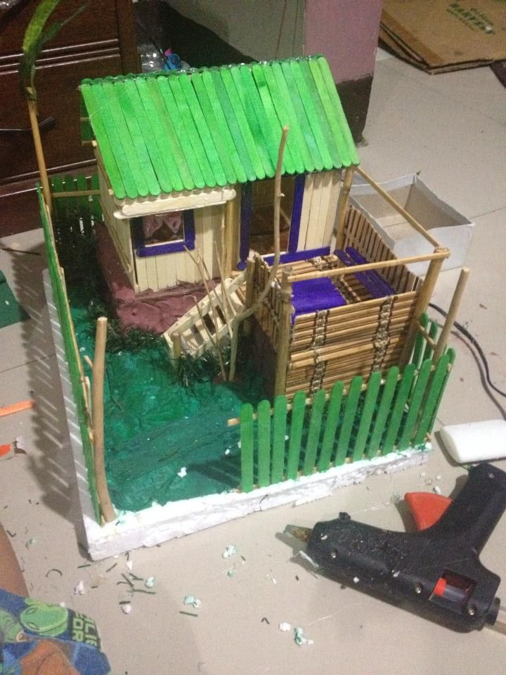 Quot Bahay Kubo Quot Using Popsicle Sticks Anything Diy